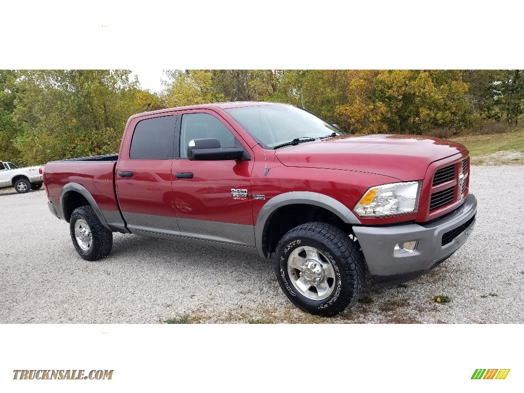Deep Cherry Red Crystal Pearl / Dark Slate/Medium Graystone Dodge Ram 2500 HD SLT Outdoorsman Crew Cab 4x4