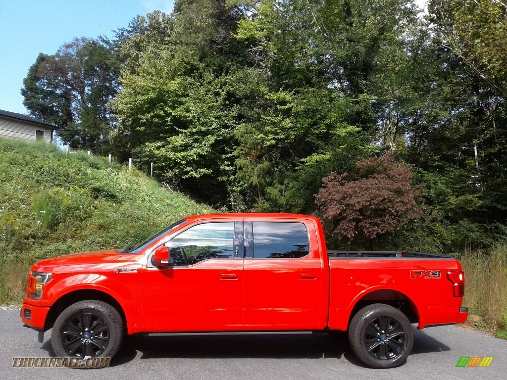 2020 F150 Lariat SuperCrew 4x4 - Race Red / Sport Special Edition Black/Red photo #1
