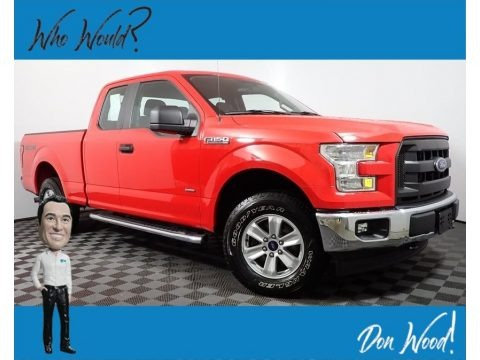 Race Red 2017 Ford F150 XL SuperCab 4x4