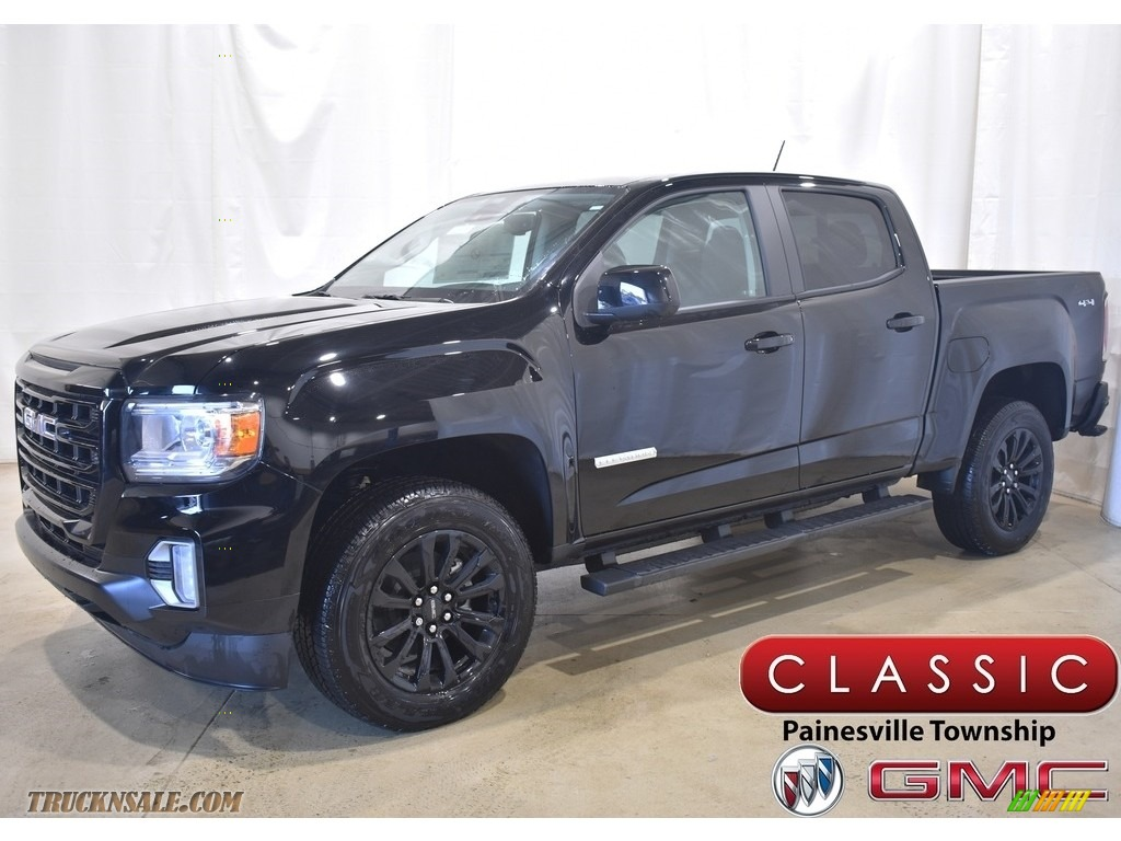 2021 Canyon Elevation Crew Cab 4WD - Onyx Black / Jet Black photo #1