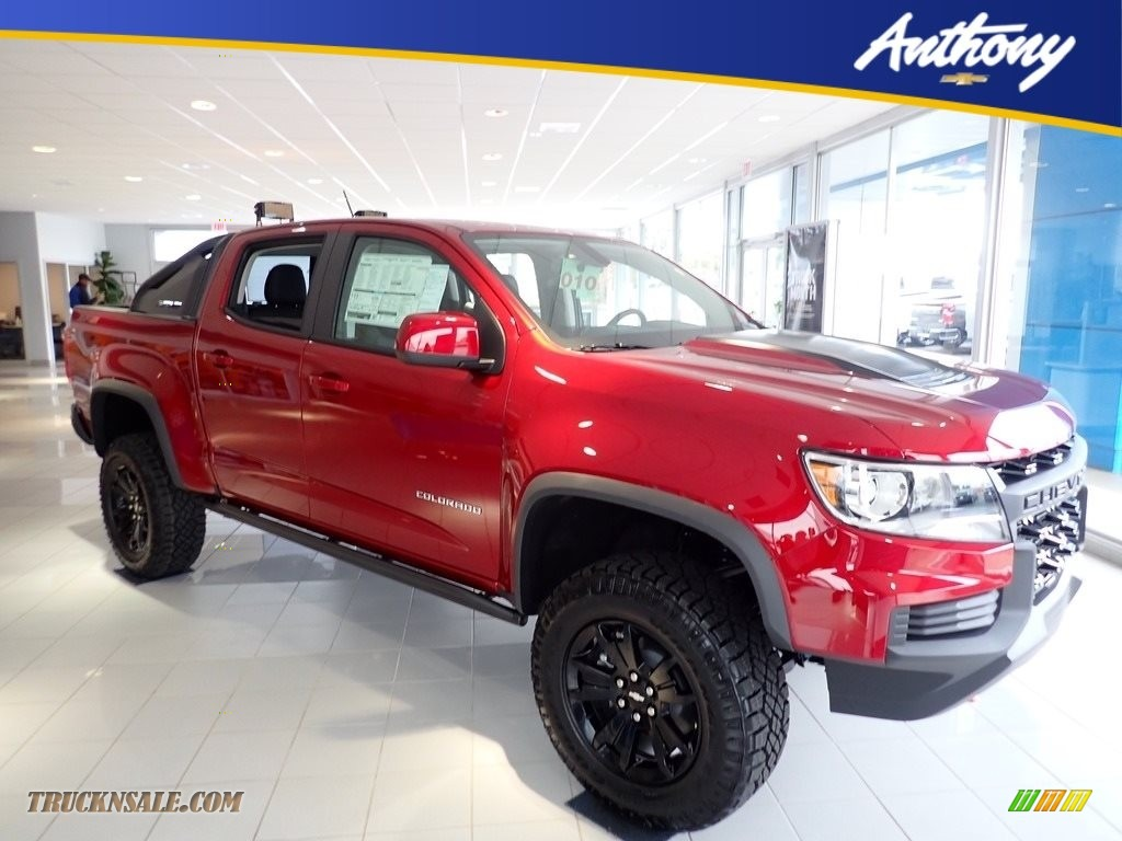Cherry Red Tintcoat / Jet Black Chevrolet Colorado ZR2 Crew Cab 4x4