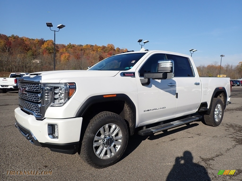 2020 Sierra 2500HD Denali Crew Cab 4WD - White Frost Tricoat / Jet Black photo #1