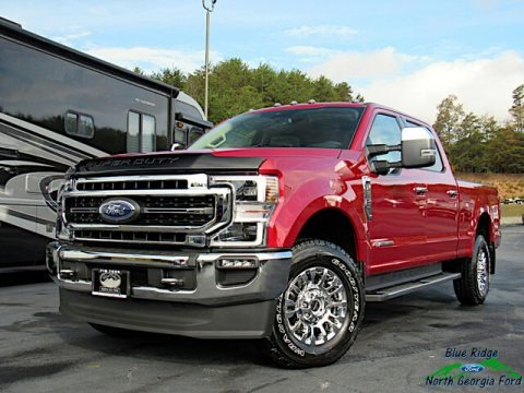 Rapid Red 2020 Ford F250 Super Duty Lariat Crew Cab 4x4