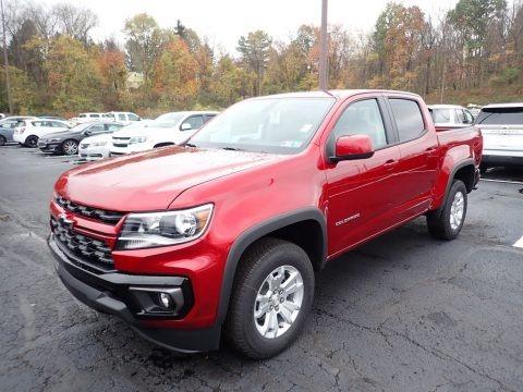 Cherry Red Tintcoat 2021 Chevrolet Colorado LT Crew Cab 4x4