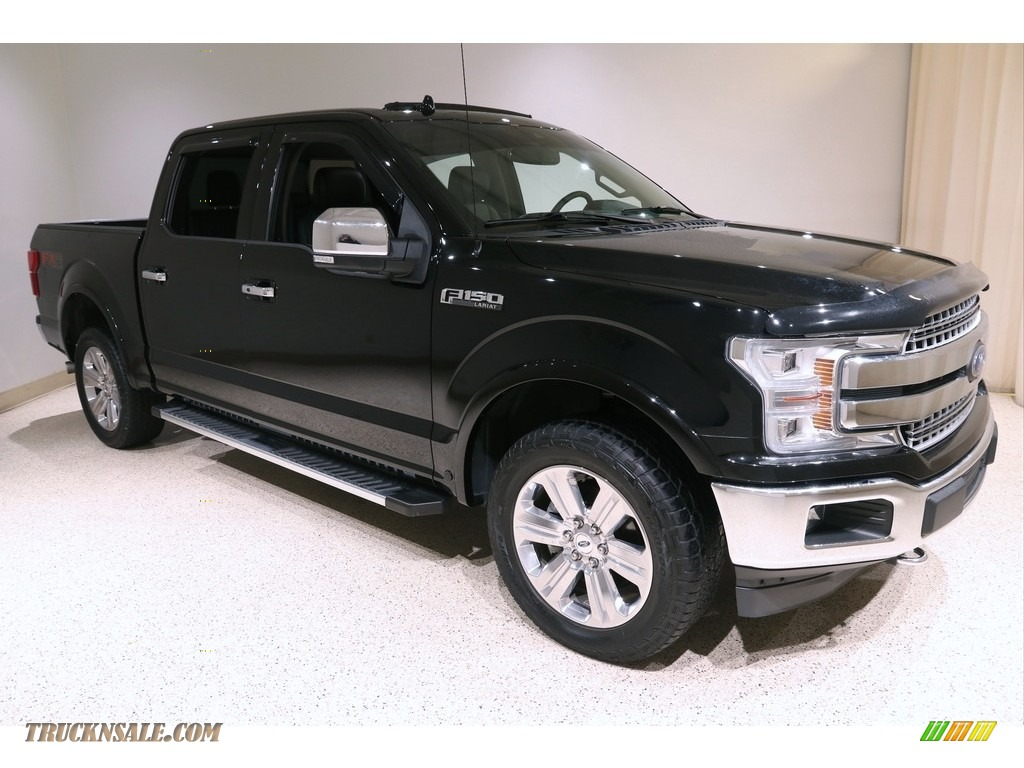 2018 F150 Lariat SuperCrew 4x4 - Shadow Black / Black photo #1