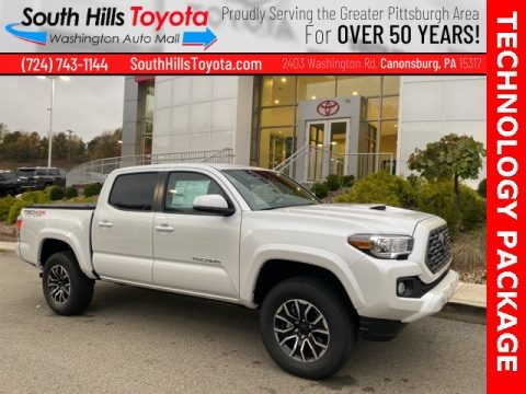 Wind Chill Pearl 2021 Toyota Tacoma TRD Sport Double Cab 4x4