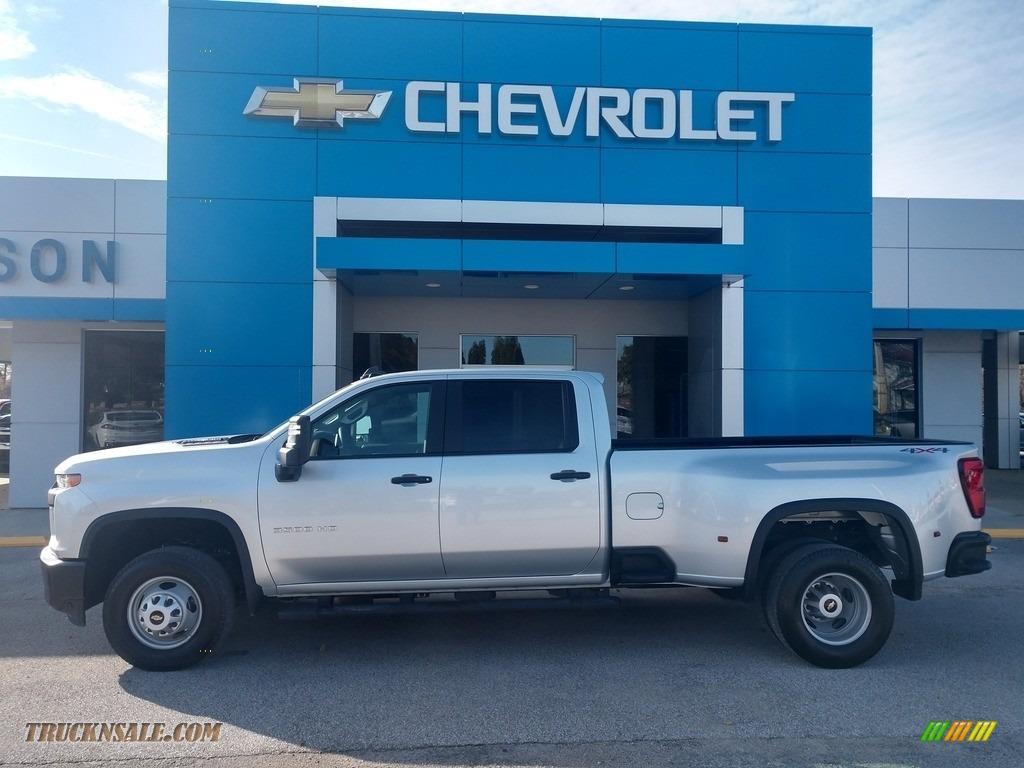 2020 Silverado 3500HD Work Truck Crew Cab 4x4 - Silver Ice Metallic / Jet Black photo #1
