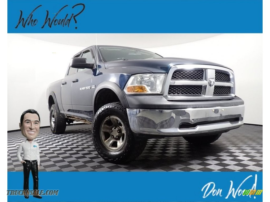 2011 Ram 1500 ST Quad Cab 4x4 - Hunter Green Pearl / Dark Slate Gray/Medium Graystone photo #1