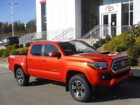 Inferno Orange 2017 Toyota Tacoma TRD Sport Double Cab 4x4