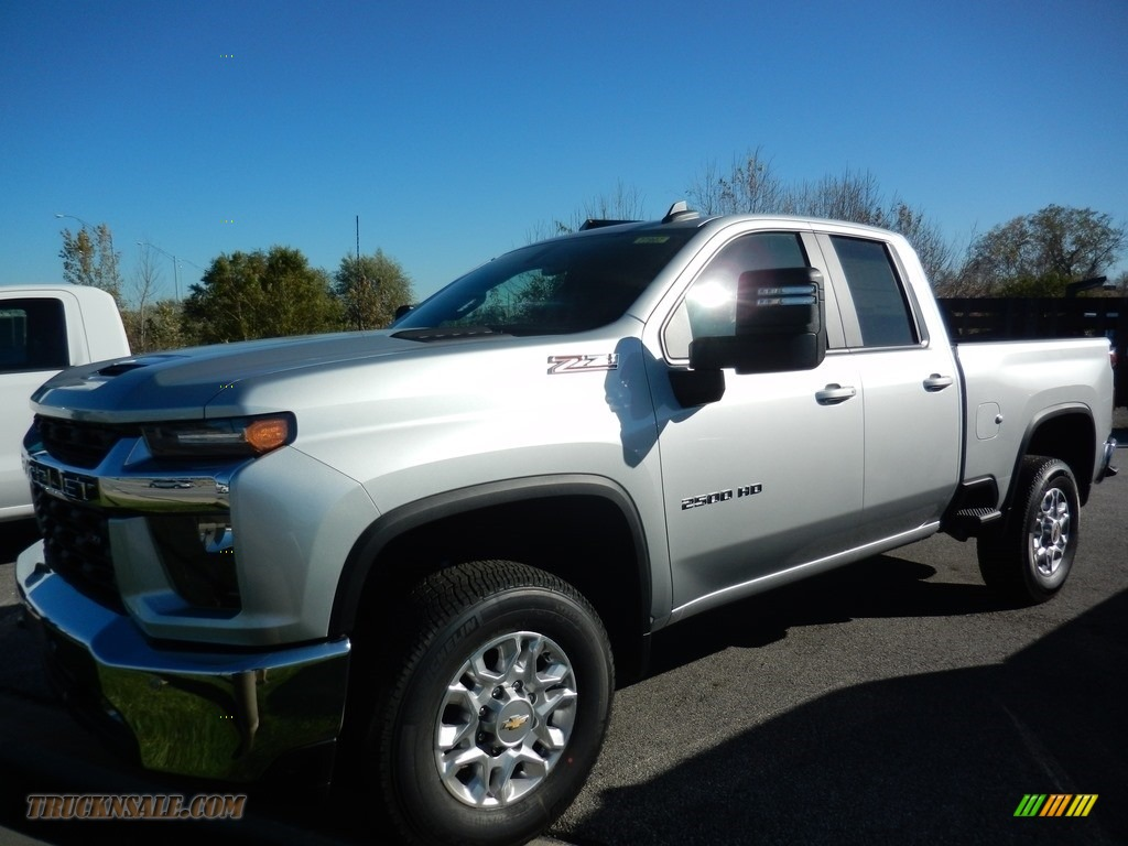 2021 Silverado 2500HD LT Double Cab - Silver Ice Metallic / Jet Black photo #1