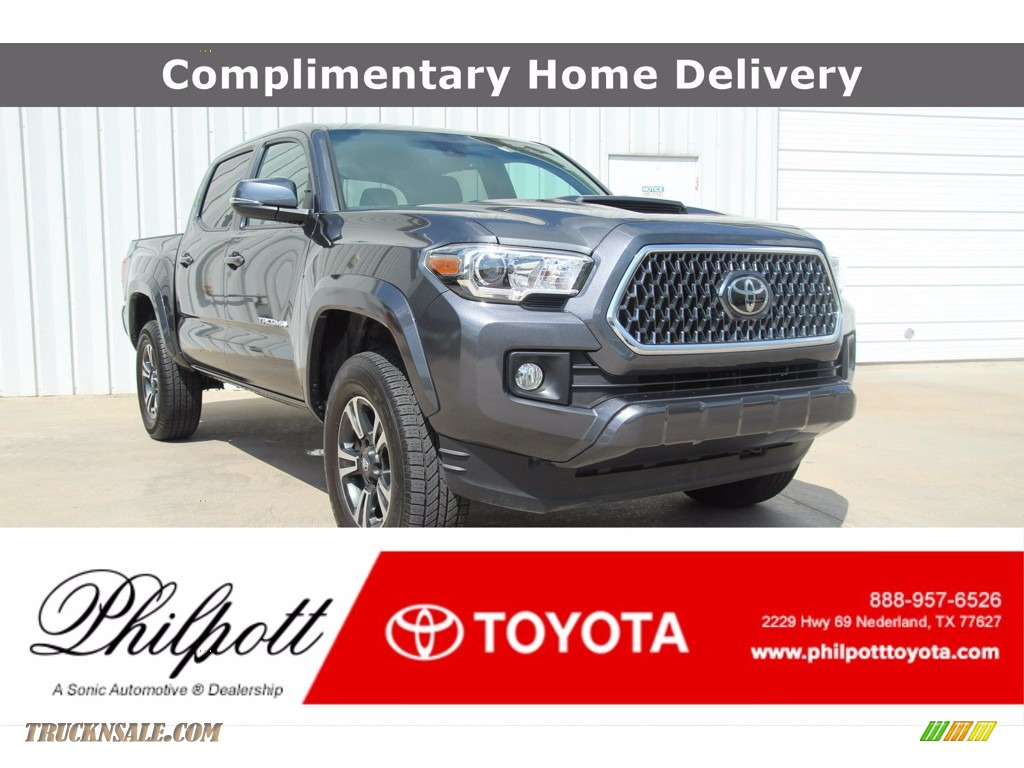2019 Tacoma TRD Sport Double Cab - Magnetic Gray Metallic / TRD Graphite photo #1