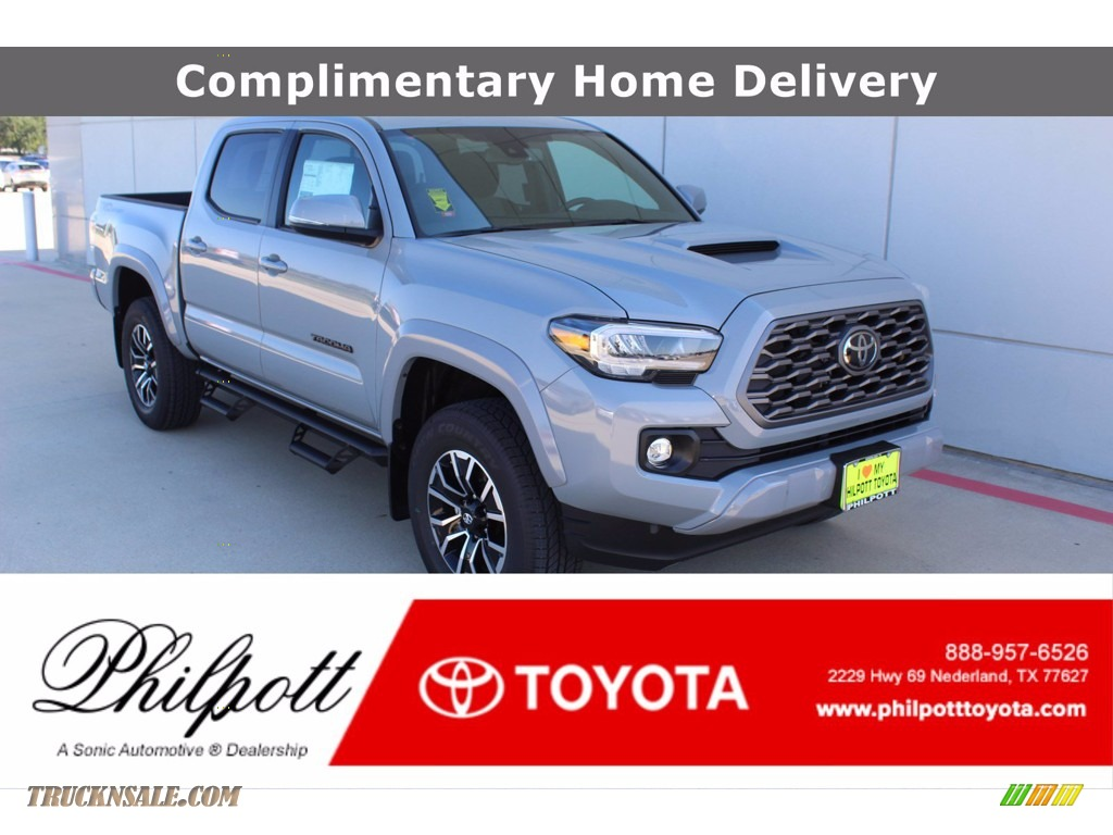 2021 Tacoma TRD Sport Double Cab 4x4 - Cement / TRD Cement/Black photo #1