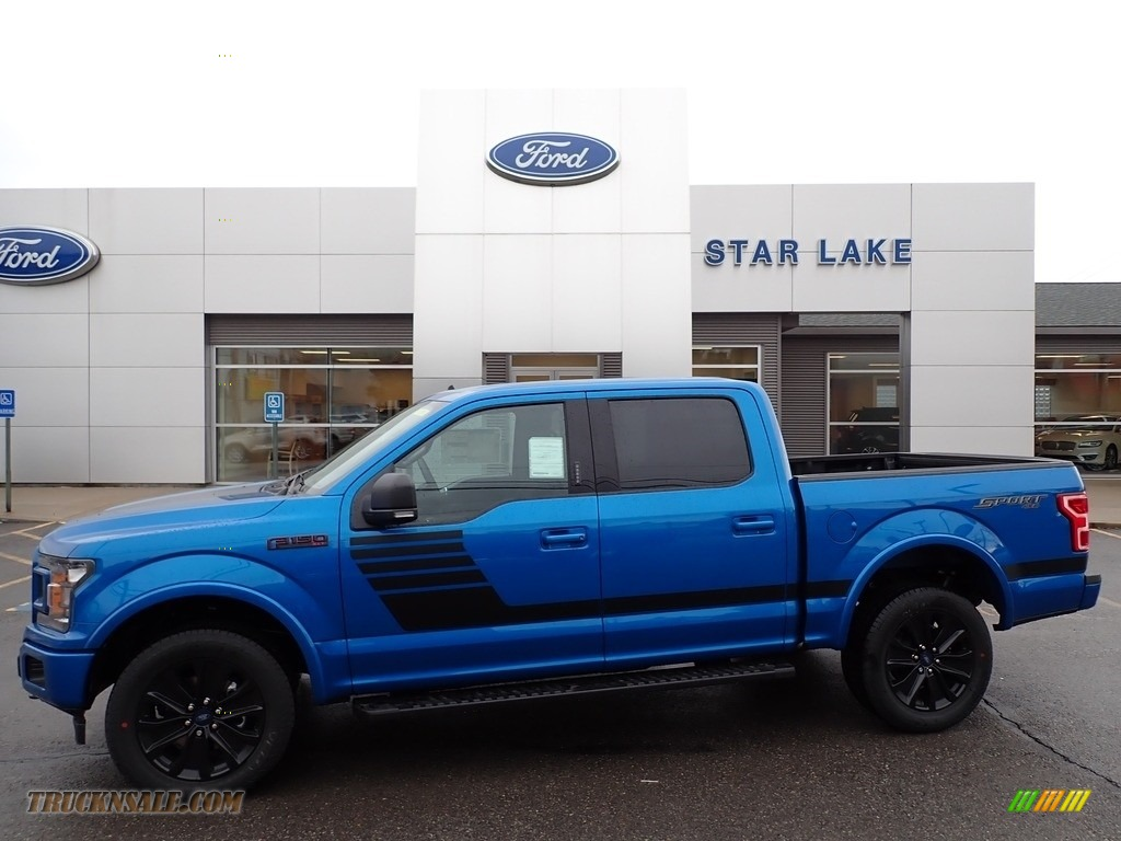 2020 F150 XLT SuperCrew 4x4 - Velocity Blue / Sport Special Edition Black/Red photo #1