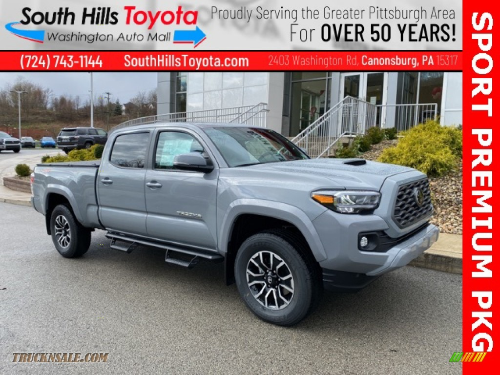 2021 Tacoma TRD Sport Double Cab 4x4 - Cement / Black photo #1