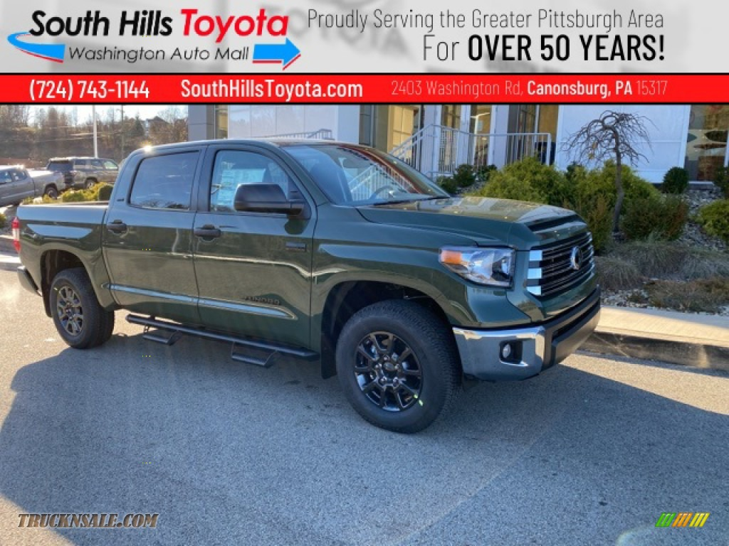 2021 Tundra SR5 CrewMax 4x4 - Army Green / Graphite photo #1