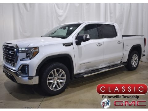 White Frost Tricoat 2021 GMC Sierra 1500 SLT Crew Cab 4WD