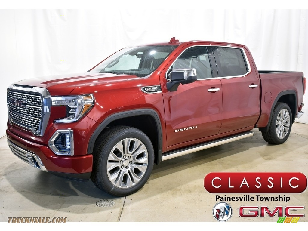 2021 Sierra 1500 Denali Crew Cab 4WD - Cayenne Red Tintcoat / Jet Black photo #1