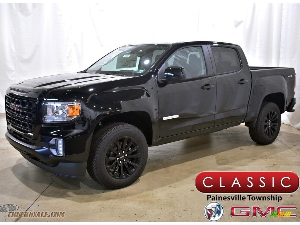 Onyx Black / Jet Black GMC Canyon Elevation Crew Cab 4WD