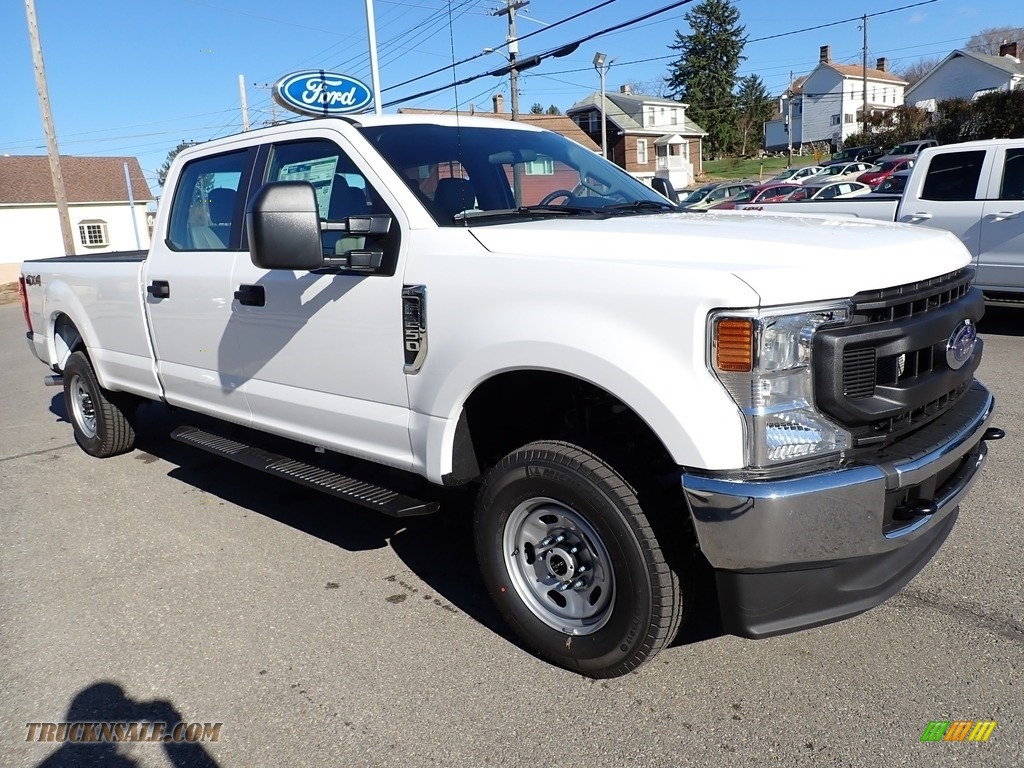2021 F250 Super Duty XL Crew Cab 4x4 - Oxford White / Medium Earth Gray photo #8