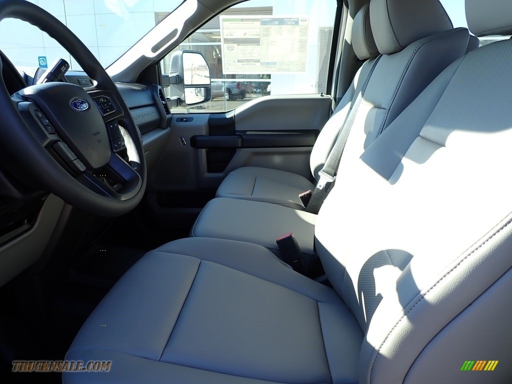 2021 F250 Super Duty XL Crew Cab 4x4 - Oxford White / Medium Earth Gray photo #10