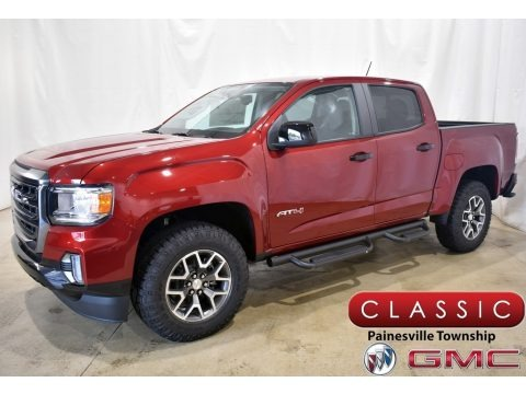 Cayenne Red Tintcoat 2021 GMC Canyon AT4 Crew Cab 4WD