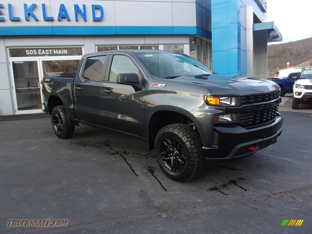 2021 Silverado 1500 Custom Trail Boss Crew Cab 4x4 - Shadow Gray Metallic / Jet Black photo #1