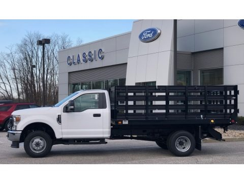 Oxford White 2020 Ford F350 Super Duty XL Regular Cab 4x4 Chassis Stake Truck