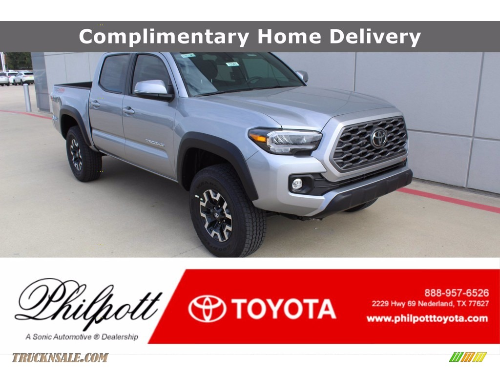 2021 Tacoma TRD Off Road Double Cab 4x4 - Silver Sky Metallic / TRD Cement/Black photo #1