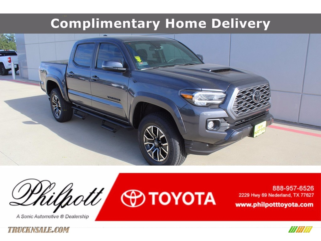 2021 Tacoma TRD Sport Double Cab - Magnetic Gray Metallic / Cement photo #1