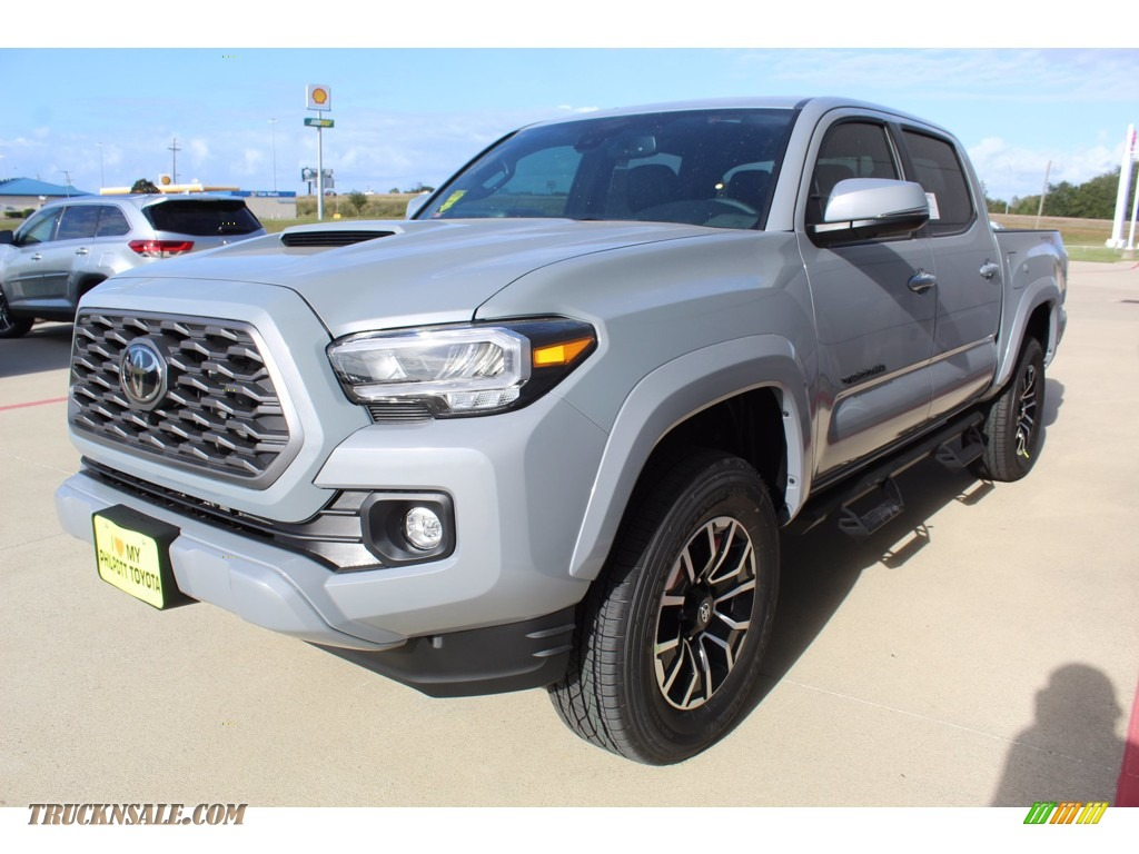 2021 Tacoma TRD Sport Double Cab 4x4 - Cement / Black/Gun Metal photo #4