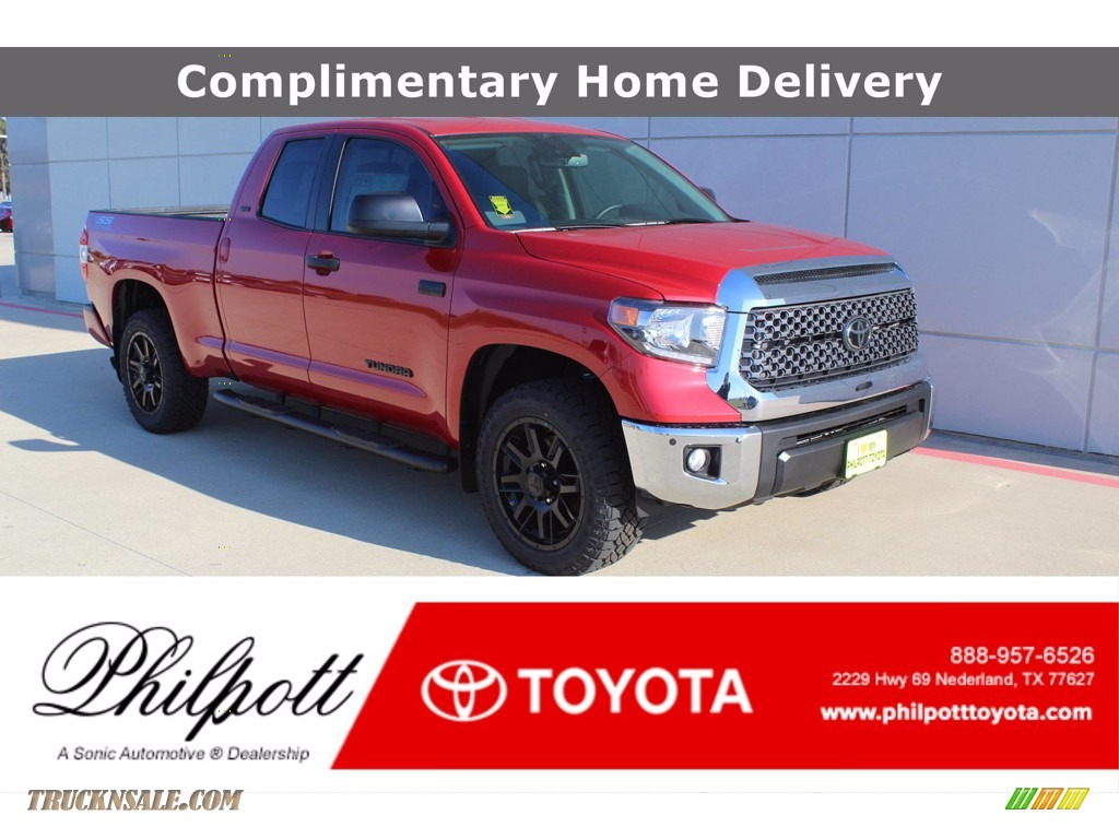 2021 Tundra SR5 Double Cab 4x4 - Barcelona Red Metallic / Graphite photo #1