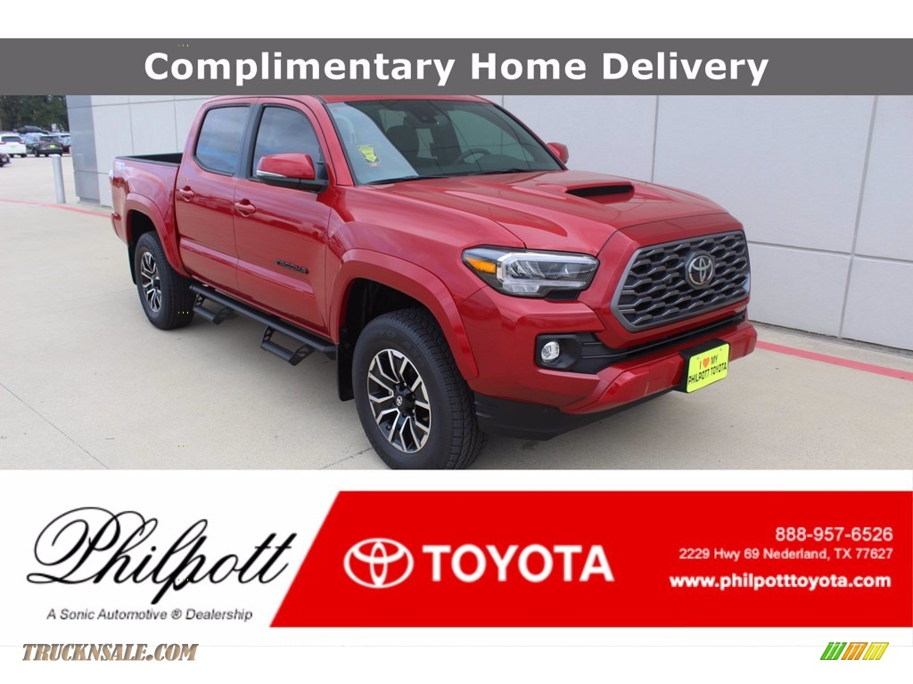 2021 Tacoma TRD Sport Double Cab - Barcelona Red Metallic / Black/Gun Metal photo #1