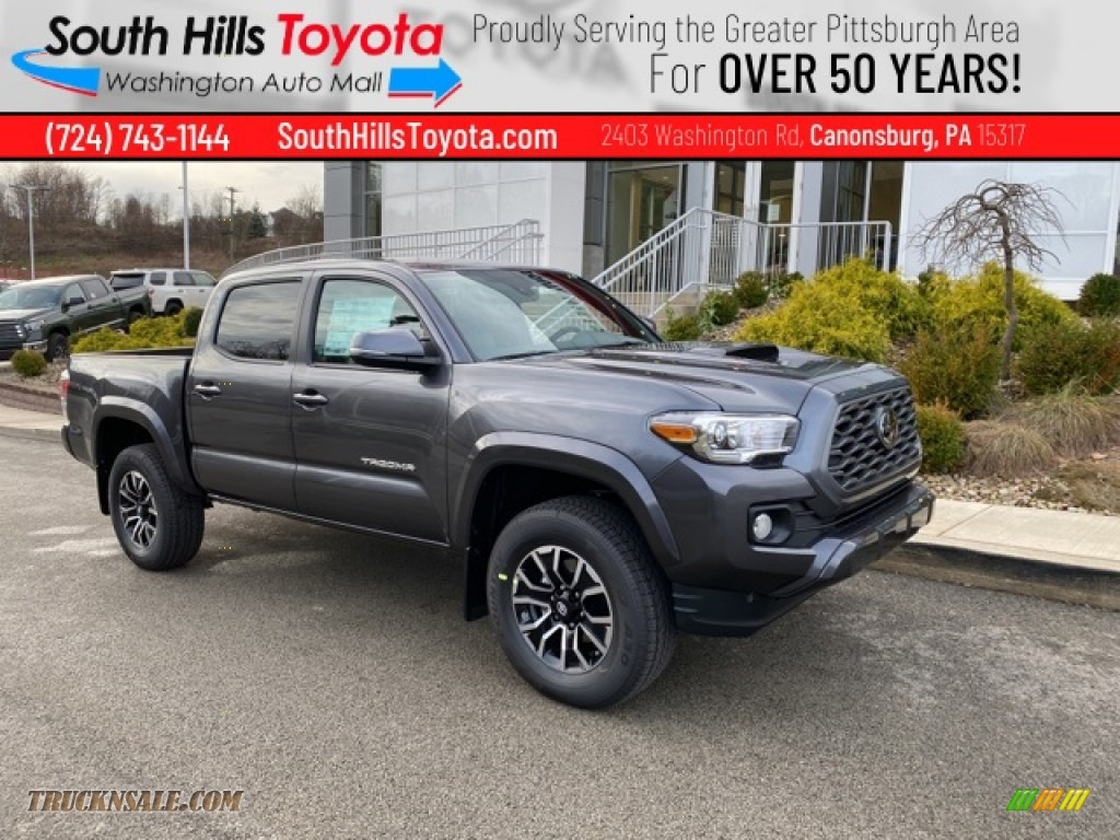 2021 Tacoma TRD Sport Double Cab 4x4 - Magnetic Gray Metallic / TRD Cement/Black photo #1
