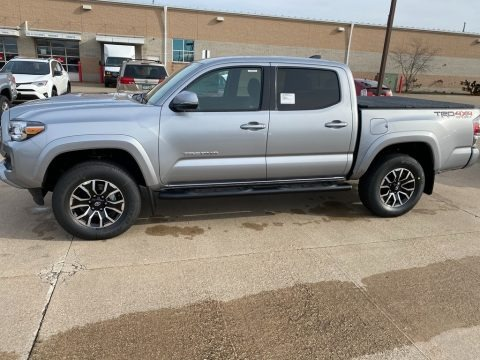 Silver Sky Metallic 2021 Toyota Tacoma TRD Sport Double Cab 4x4