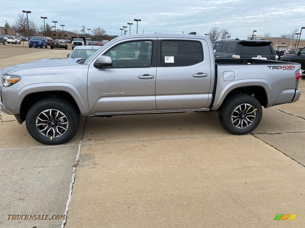2021 Tacoma TRD Sport Double Cab 4x4 - Silver Sky Metallic / TRD Cement/Black photo #1