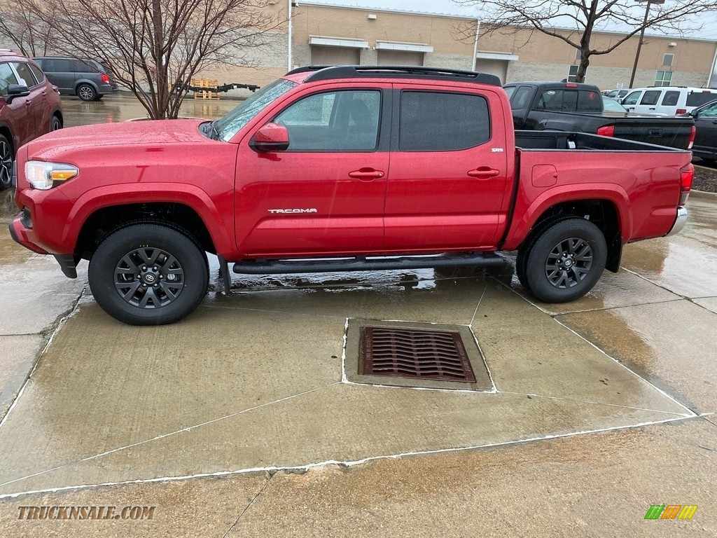 2021 Tacoma SR5 Double Cab 4x4 - Barcelona Red Metallic / Black/Red photo #1