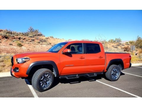 Inferno Orange 2017 Toyota Tacoma TRD Sport Double Cab