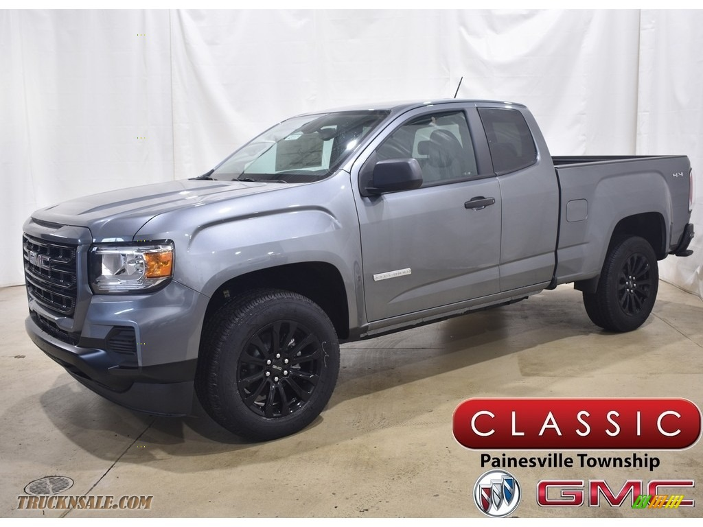 2021 Canyon Elevation Extended Cab 4WD - Satin Steel Metallic / Jet Black/Dark Ash photo #1