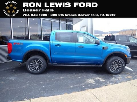 Velocity Blue Metallic 2021 Ford Ranger XLT SuperCrew 4x4