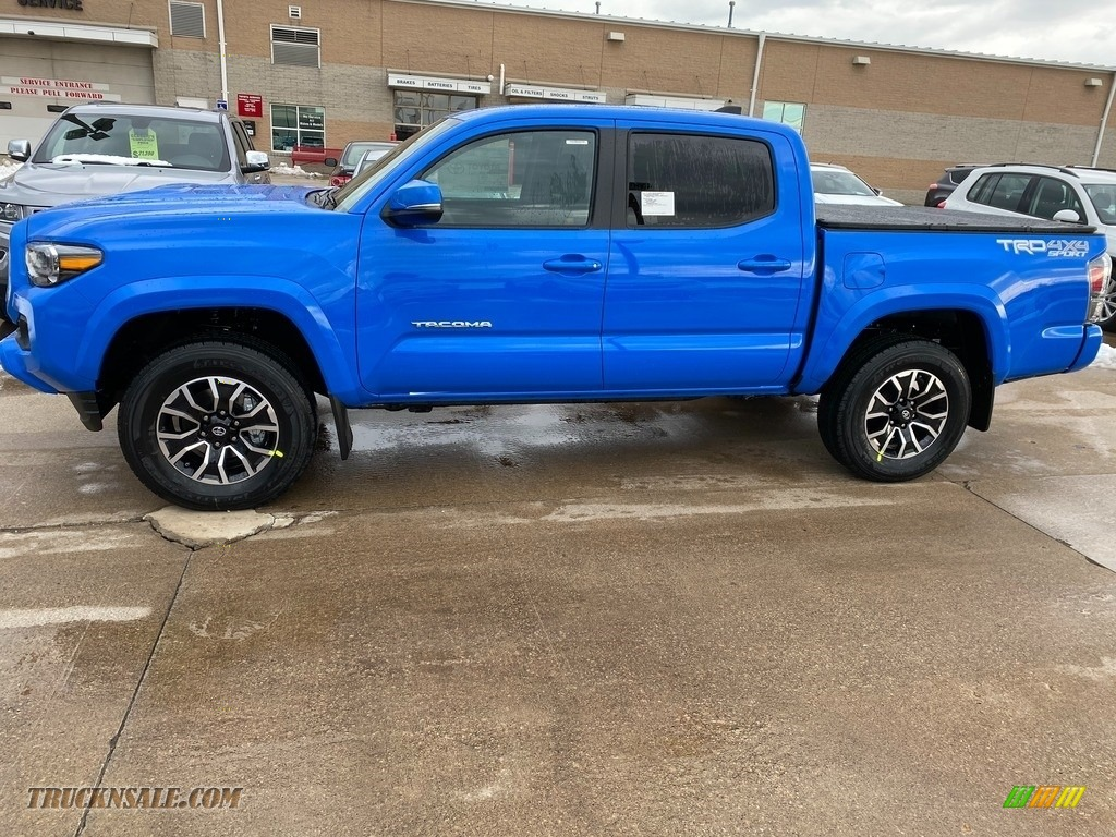 2021 Tacoma TRD Sport Double Cab 4x4 - Voodoo Blue / TRD Cement/Black photo #1