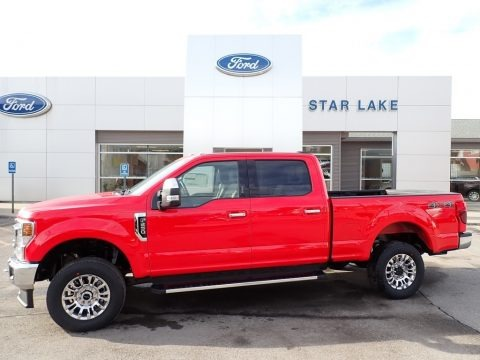 Race Red 2021 Ford F250 Super Duty XLT Crew Cab 4x4