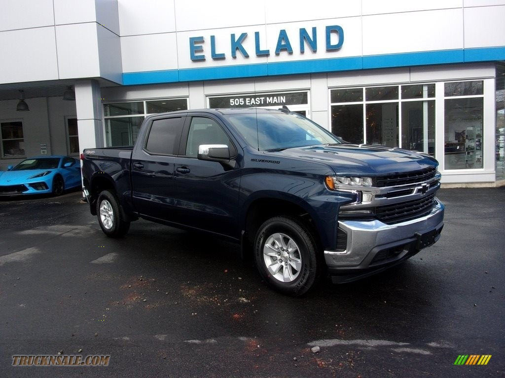 2021 Silverado 1500 LT Crew Cab 4x4 - Northsky Blue Metallic / Jet Black photo #1