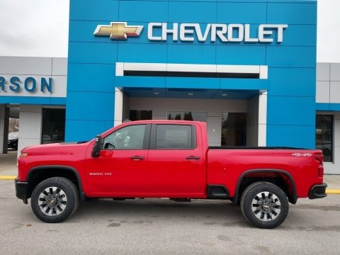 Red Hot 2021 Chevrolet Silverado 2500HD Custom Crew Cab 4x4