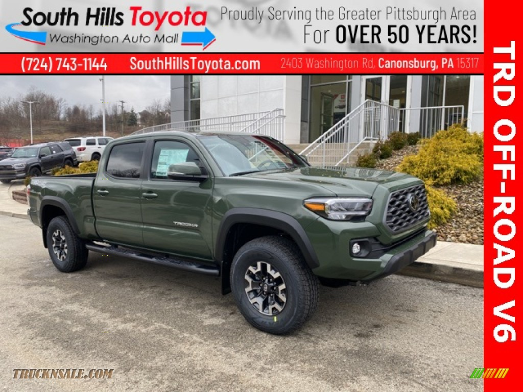 2021 Tacoma TRD Off Road Double Cab 4x4 - Army Green / TRD Cement/Black photo #1