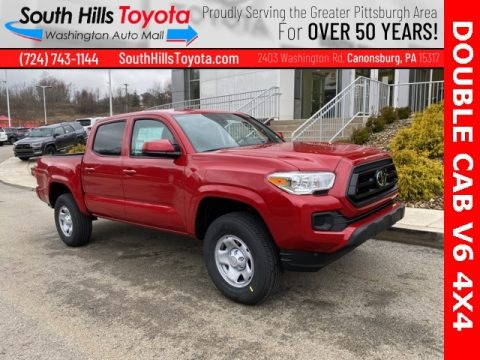 Barcelona Red Metallic 2021 Toyota Tacoma SR Double Cab 4x4