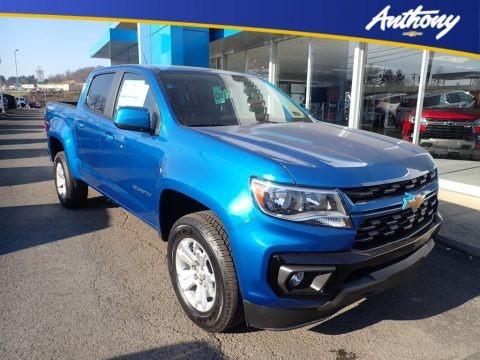 Bright Blue Metallic 2021 Chevrolet Colorado LT Crew Cab 4x4