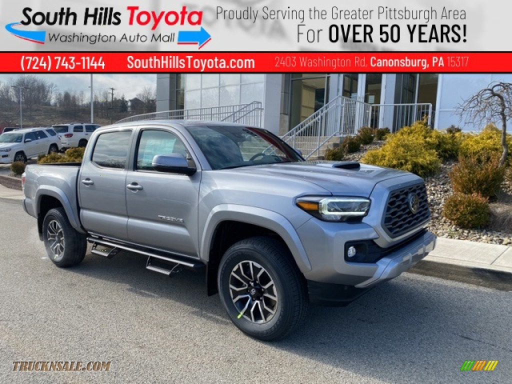 Silver Sky Metallic / TRD Cement/Black Toyota Tacoma TRD Sport Double Cab 4x4