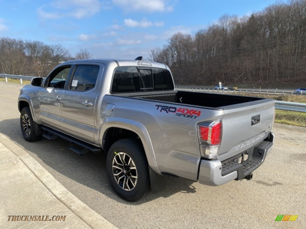 2021 Tacoma TRD Sport Double Cab 4x4 - Silver Sky Metallic / TRD Cement/Black photo #2
