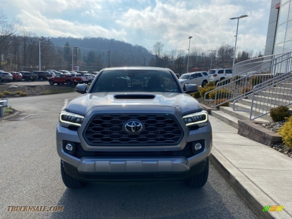 2021 Tacoma TRD Sport Double Cab 4x4 - Silver Sky Metallic / TRD Cement/Black photo #11