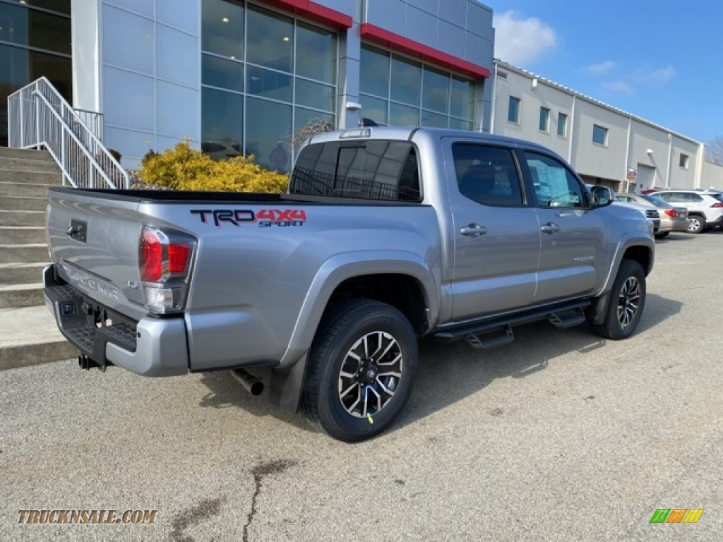 2021 Tacoma TRD Sport Double Cab 4x4 - Silver Sky Metallic / TRD Cement/Black photo #13